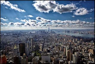 Manhattan as seen from the top of Empire State Building